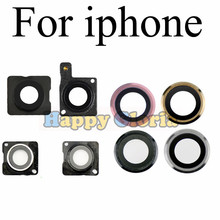 2pcs High Quality Rear Back Camera Glass Lens Cap Seal Bracket Ring Holder For iPhone 4G 4S 5 5G 5S 5C SE 6 7 Plus 6S 6S Plus