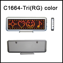 16x64Matrix Led desktop display Tri(RG)color LED dot matrix signs indoor LED moving message display led table screen indoorsign(China)