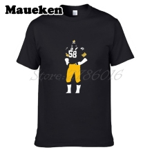 Men Jack Lambert #58 pittsburgh Hall of Fame Dracula T-shirt Clothes T Shirt Men's o-neck tee W17080502(China)