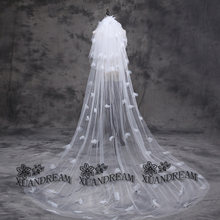 In stock flower veils trouw accessoires wedding veils three layers with comb simple high quality cheap white bride veils VD-39