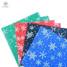 Polyester felt fabric nonwoven christmas snowflakes snow new diy handmade sewing home decor material thickness1mm 15x15cmM-8-I(China)