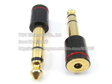 Monster 6.5mm Male to 3.5mm Female M/F Jack Stereo Audio Mic Plug Adapter ,2pcs ,free shipping
