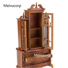 1/12 scale dollhouse miniature furniture well Hand Carved Cupboard