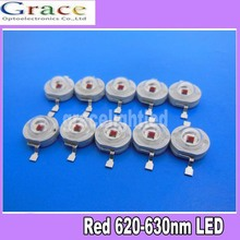 20PCS 1W 3W High Power Red LED Light Emitter 610-630NM 1W 3watt led diodes(China)