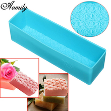 Aomily Rose Toast Silicone Soap Mold Loaf Cake Baking Bread Tools DIY Chocolate Mould Pastry Bread Cake Bakware Tools(China)