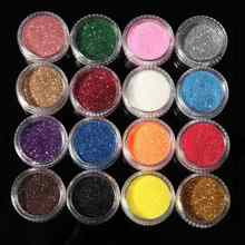 Hot Sale New 16 Mixed Colors Pigment Glitter Powder Mineral Spangle Eyeshadow Makeup 16pcs One Set Maquiagem