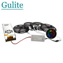 5M/10M/15M/20M IP20/IP65 Waterproof 5050 RGB LED Strip Set 7Keys 2.4G Wireless RF Touch Controller 12V Power Supply Adapter