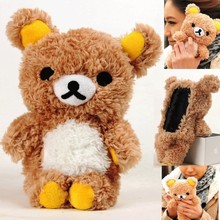 Ayeena Lovely Cute 3D Teddy Bear Doll Toy Plush Case Cover For Samsung S3 I9300 S4 I9500 cell Phones kids phone case(China)