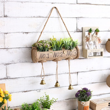American Style Simulation Plant Wall Hanging Ornament Home Creative Clothing Shop Soft Wall Hanging Ornaments Lavender Wind Bell