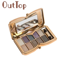 Graceful 10 Colors Shimmer Eyeshadow Eye Shadow Palette Makeup Cosmetic Set la gama de colores maquiagem tool SEPT26