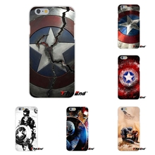 Super Hero Captain America Shield Marvel Silicone Cover For Huawei G7 G8 P8 P9 Lite Honor 5X 5C 6X Mate 7 8 9 Y3 Y5 Y6 II