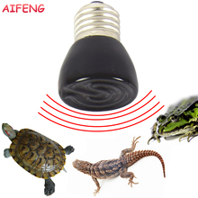 AIFENG E27 Led Bulb 25W 50W 75W 100W Infrared Lamp AC 220V 230V 240V Ceramic Heat Emitter Bulbs For Reptile Pet Brooder Led Bulb(China)