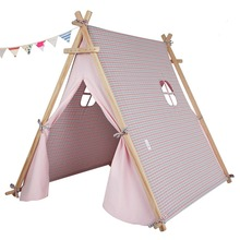 pink color Children's tent baby toy house Children play tent Cotton tents Baby dollhouse teepee house(China)