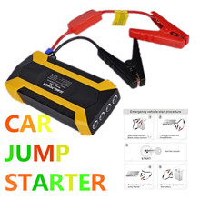 Hot Rated!! Emergency 12V Car Jump Starter mini protable Power Band Car Starter Petrol Multi Function Battery Charger Booster(China)