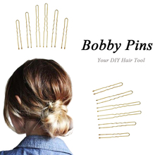 300Pcs/Set Metal Thin U Shape Hairpins Golden Women Bobby Pins Hair Clips for Beauty Hair Styling Tools 3 Size