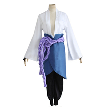 Japanese Anime Naruto Shippuden Clothing Uchiha Sasuke Cosplay Costumes 3rd Generation Clothes (Top+Pants+Waistband+handguard)(China)