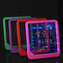 Billboard  Handwriting Pad LED Light Fluorescent WordPad Electronic Luminescent Message Board