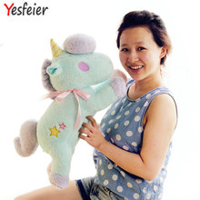 55cm kawaii big size Unicorn plush toys kids toys baby toys stuffed PP cotton plush doll(China)