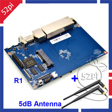 Free shipping Banana PI R1 + 2 Omni Directional 5dB BPI-R1 Antenna,Smart Wireless Router Opensource development board(China)