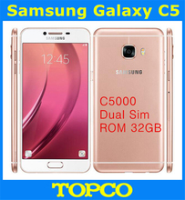 "Samsung Galaxy C5 Duos GSM 4G LTE Original Unlocked Android Dual Sim Mobile Phone C5000 Octa Core 5.2"" 16MP RAM 4GB ROM 32GB(China)"