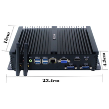 Fanless Rugged Mini PC Fanless Computer With Core i5 4200u 3M Cache, up to 2.60 GHz Dual COM Ports 7*USB Ports(China)