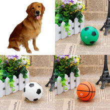 New Pet Puppy Cute Small Hollow Football Sound Treat Training Toys Chew Ball(China)