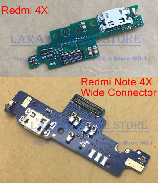 Original for Xiaomi Redmi 4X Micro USB Charging Dock Connector Port with Microphone Flex Cable for Redmi Note 4X Spare Parts