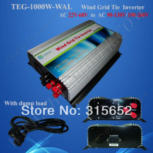 1000W Grid Tie Inverter With Dump Load Controller AC 22V-60V Input For Wind Turbine System(China)