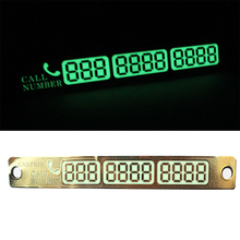 Best Selling Car Luminous Temporary Parking Card With Suckers And Phone Number Card Plate Car Electronics card Accessories(China)
