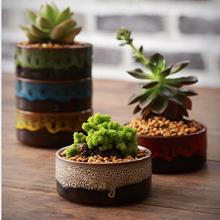 KEYBOX Home Micro Garden Decoration Mini Round Juicy Planter Flowers Vase Flowerpots Container DIY Small Bonsai Pots