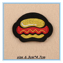 DOUBLEHEE178 Hamburgers Hot Dogs Patches Embroidered Iron On Patch For Clothing Sticker Badge Paste For Clothes Bag Pants