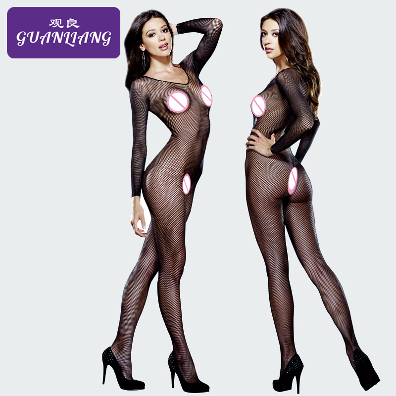 Departly Fishnet Stockings Mesh Bodysuit Teddy Pantyhose Full Body Sexy Bodysuit Fishnet Bodystocking Plus Size Lingerie Body(China)
