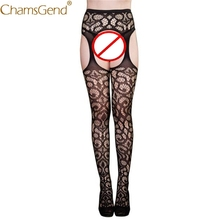 Buy Chamsgend Tights Sexy Womens Lingerie Jacquard Lace Garter Belt Thigh High Stocking Pantyhose Tights 80131