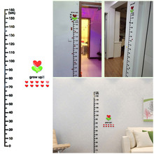 Height Wall Stickers Stylish Kid's Height Measurement Stickers 0-160cm Long High-end Acrylic Wall Stickers Home Decoration(China)