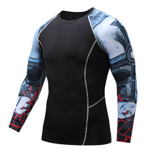 Teen Wolf 2017 Men's T shirts MMA Compression Shirt Crossfit T-shirt Men Workout GymMMA Fitness Tights Brand Clothing Top M--3XL