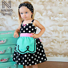Summer Brand Girl Clothes Baby Girl Slip Apron Little Girl Clothing Infant Party Costume For Kids Girl Birthday Cosplay Dress Up