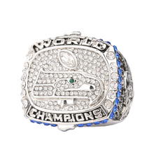 Luxury Souvenir Crystal Jewelry 2015 Rugby Cup Commemorative Ring Super Bowl Champion Rings Jewelry For Men