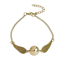 FWORLD Fashion Harry Quidditch Golden Snitch bracelets for women and men Potter cute ball wings chain bracelets nice gifts B-048(China)