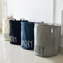 Fashion cotton Folding clothes Large Laundry basket barrel and Kids Toys Sundries Organizer toy Box Storage Bags container