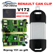 Quality Full Chip AN2131QC Latest V172 Reprog 151 Renault Can Clip Diagnostic Interface Multi-Function CAN Clip For Renault(China)