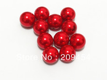 20mm 100pcs/lot Bright Red Chunky Round Imitation Pearl Acrylic Beads For Kids Jewelry Making(China)