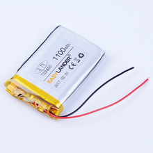 703450 3.7V 1100mAh Rechargeable li Polymer Li-ion Battery For mp3 mp4 GPS DVR PDA toys tools Watch Bluetooth speaker 073450(China)