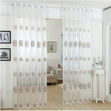 Good quality  tulle curtains for living room,voile blind sheer window screening garden curtain