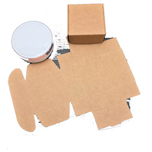 50PCS Carton Kraft Paper Box Caixa Presents Wedding Gift for Guest Candy Box Soap Box Packaging Supplies(China)