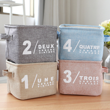 Storage Box Home Cotton Linen Clothes Basket Bra Necktie Socks Storage Box Bag Washing Laundry Storage Basket(China)