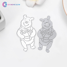 CH bear Metal Cutting Dies For Scrapbooking DIY Cards Album Decoration Embossing Folder Stencils Die Cutter Template