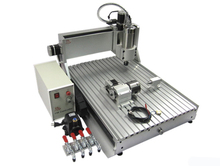 CNC 6040 Z-VFD 4 Axis 2.2KW water cooling spindle china engraving machine wood pcb milling drilling router