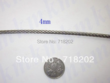 100m per lot Stainless steel 316 wire rope 7*19 4mm diameter-- Clothesline/lifting/traction(China)