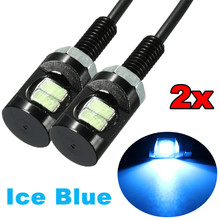 Buy 2 Pcs 12V 2-LED SMD Motorcycle Car Number License Plate Screw Bolt Light Lamp Bulb for $1.84 in AliExpress store