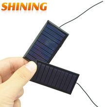 2PCS 0.15W 5V 30mA Mini Polycrystalline Solar Panel Small Resin Solar Cell Solar Module Charger for DIY Study Solar Toy